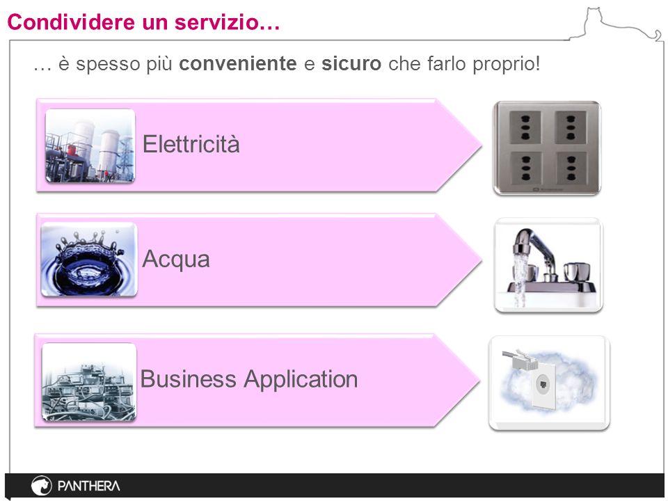 Condividere un servizio… Elettricità Acqua Business Application … è spesso più conveniente e sicuro che farlo proprio!