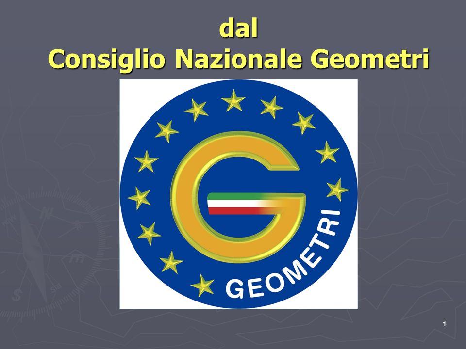 1 dal Consiglio Nazionale Geometri