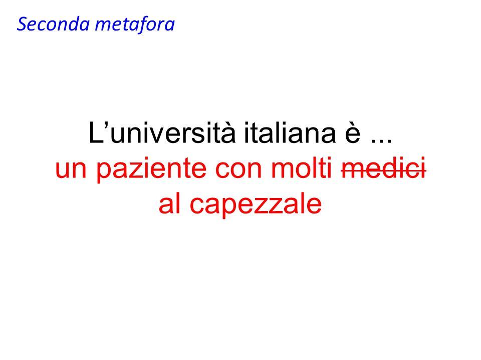 Luniversità italiana è... un paziente con molti medici al capezzale Seconda metafora