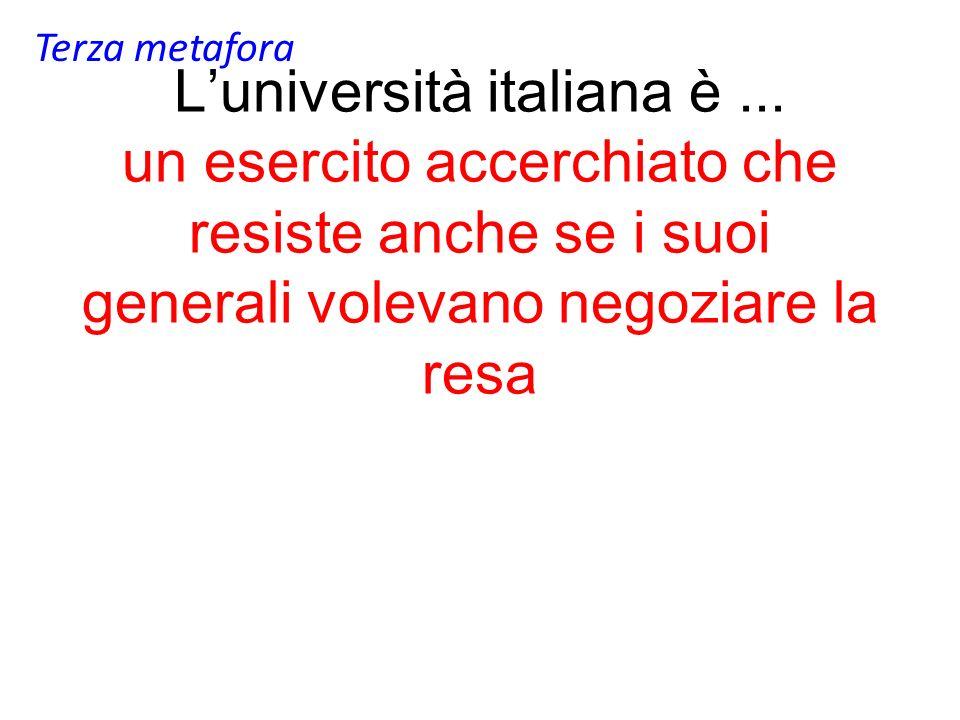Luniversità italiana è...