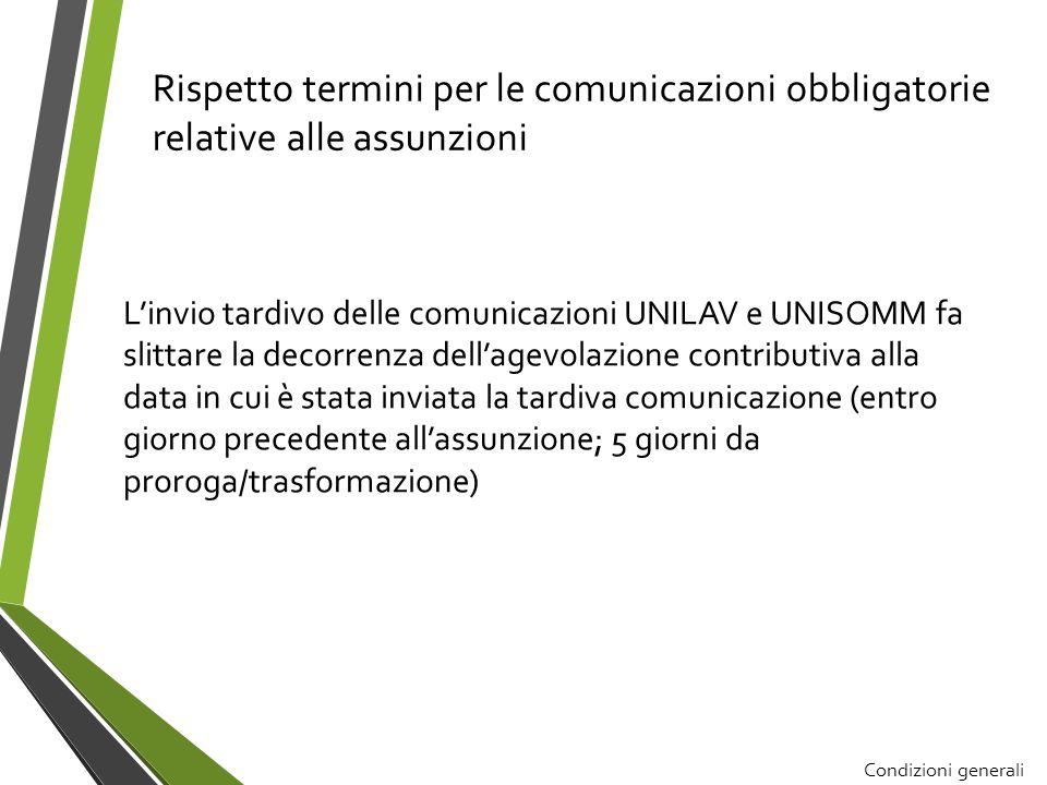 Rispetto termini per le comunicazioni obbligatorie relative alle assunzioni Linvio tardivo delle comunicazioni UNILAV e UNISOMM fa slittare la decorre