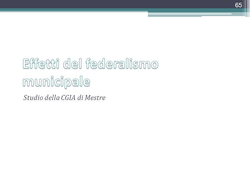 Studio della CGIA di Mestre 65