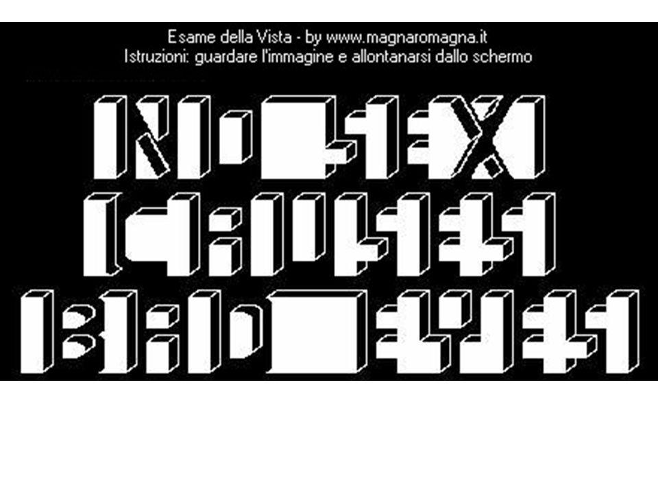 A circa 2/3 metri dallo schermo dovresti aver letto la scritta No sex causes bad eyes ossia Poco sesso provoca calo della vista….