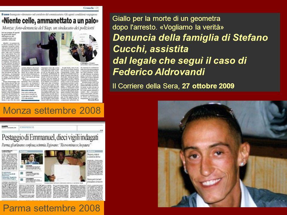 Monza settembre 2008 Parma settembre 2008 Giallo per la morte di un geometra dopo l arresto.