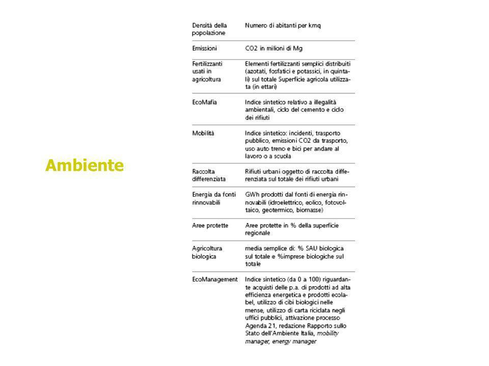 speranza di vita alla nascita incidenza di malattia e cause di mortalità specifiche accesso alle strutture sanitarie SALUTE
