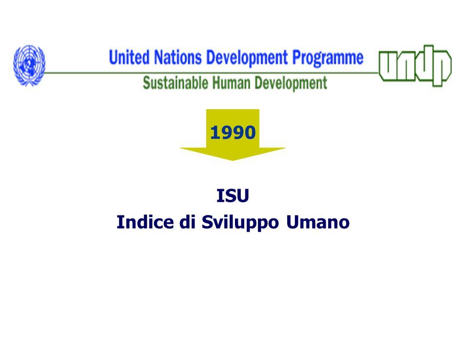1990 ISU Indice di Sviluppo Umano