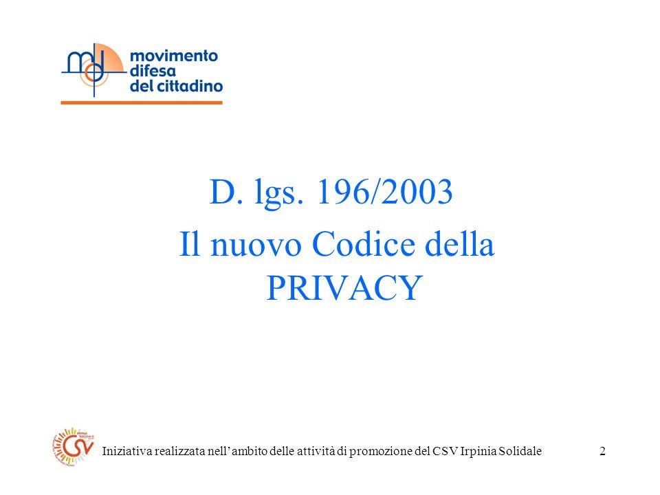 Iniziativa realizzata nellambito delle attività di promozione del CSV Irpinia Solidale2 D.