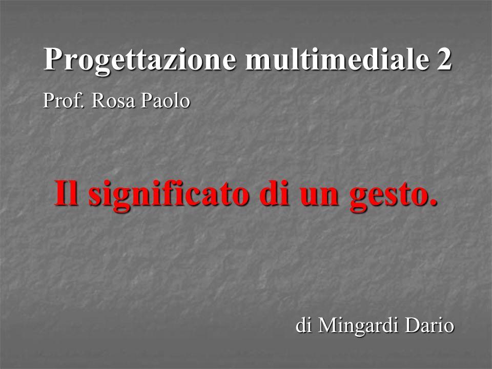 Progettazione multimediale 2 Prof. Rosa Paolo di Mingardi Dario Il significato di un gesto.
