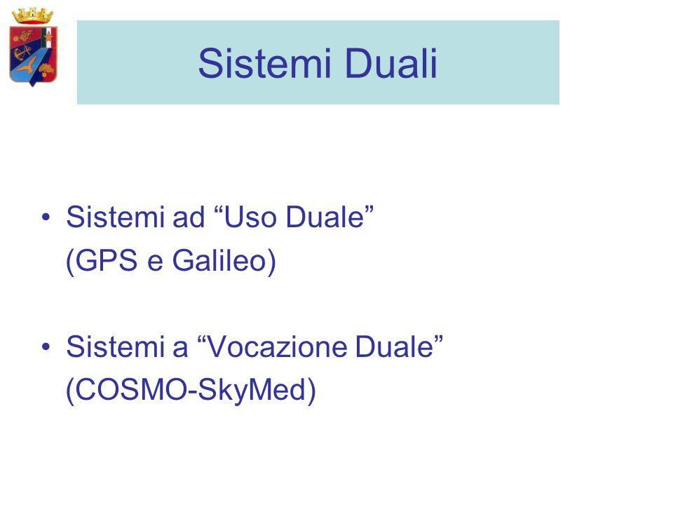 Sistemi Duali Sistemi ad Uso Duale (GPS e Galileo) Sistemi a Vocazione Duale (COSMO-SkyMed)