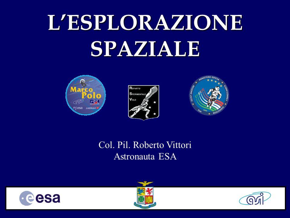 LESPLORAZIONE SPAZIALE Col. Pil. Roberto Vittori Astronauta ESA