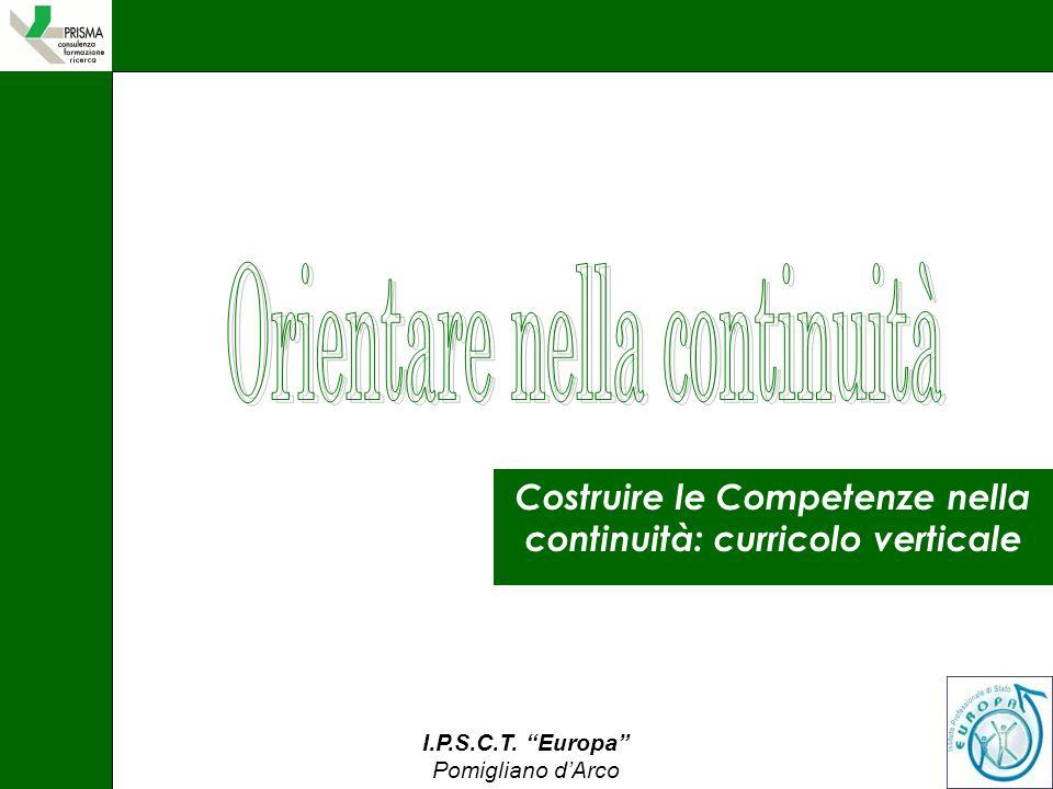 I.P.S.C.T. Europa Pomigliano dArco Costruire le Competenze nella continuità: curricolo verticale