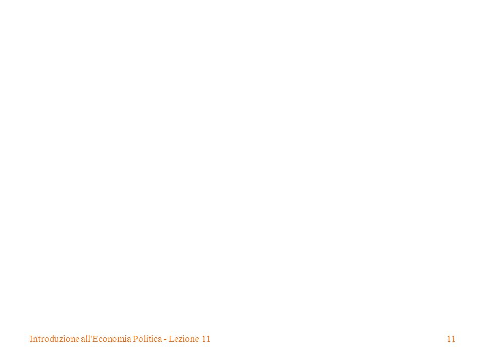 Introduzione all'Economia Politica - Lezione 1111