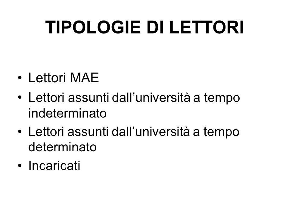 CARATTERISTICHE DEL LETTORE Madrelinguismo Laurea (in Italia o in Germania.