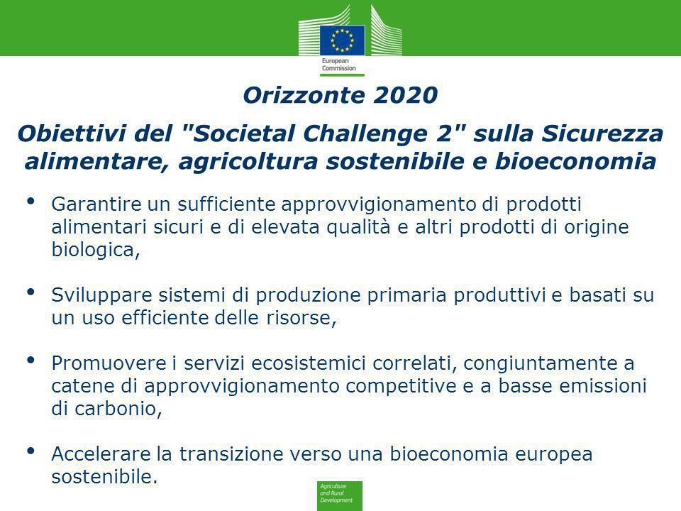 Garantire un sufficiente approvvigionamento di prodotti alimentari sicuri e di elevata qualità e altri prodotti di origine biologica, Sviluppare siste
