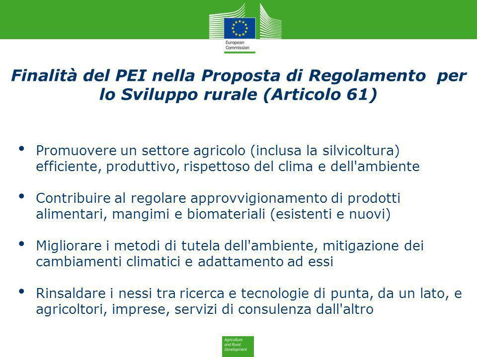 Promuovere un settore agricolo (inclusa la silvicoltura) efficiente, produttivo, rispettoso del clima e dell'ambiente Contribuire al regolare approvvi