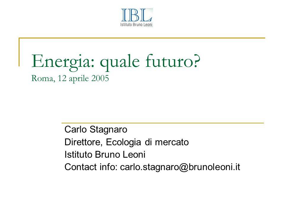 Energia: quale futuro.
