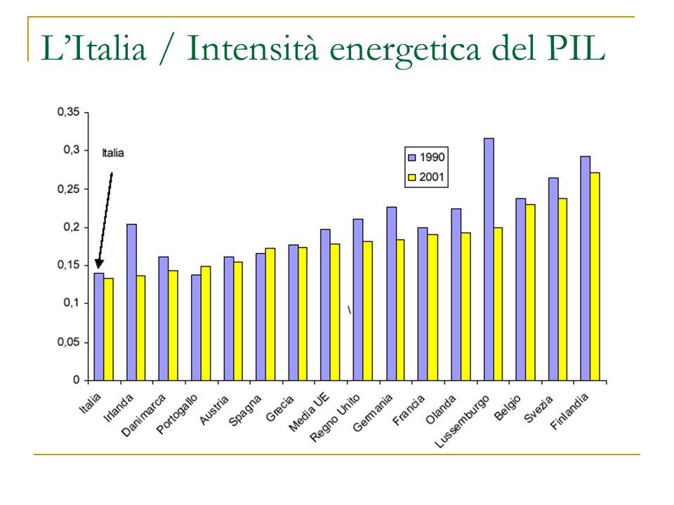 Lillusione delle alternative Se si esclude lidroelettrico, le fonti alternative provvedono una frazione del fabbisogno energetico nazionale e globale Eolico + Solare: 0,05% Geotermica: 0,12% Biomasse: 0,40% Lidrogeno non è una fonte!