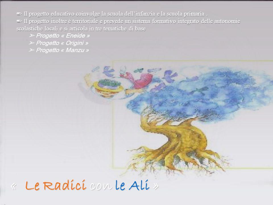 « Le Radici con le Ali » Il progetto educativo coinvolge la scuola dellinfanzia e la scuola primaria. Il progetto inoltre è territoriale e prevede un