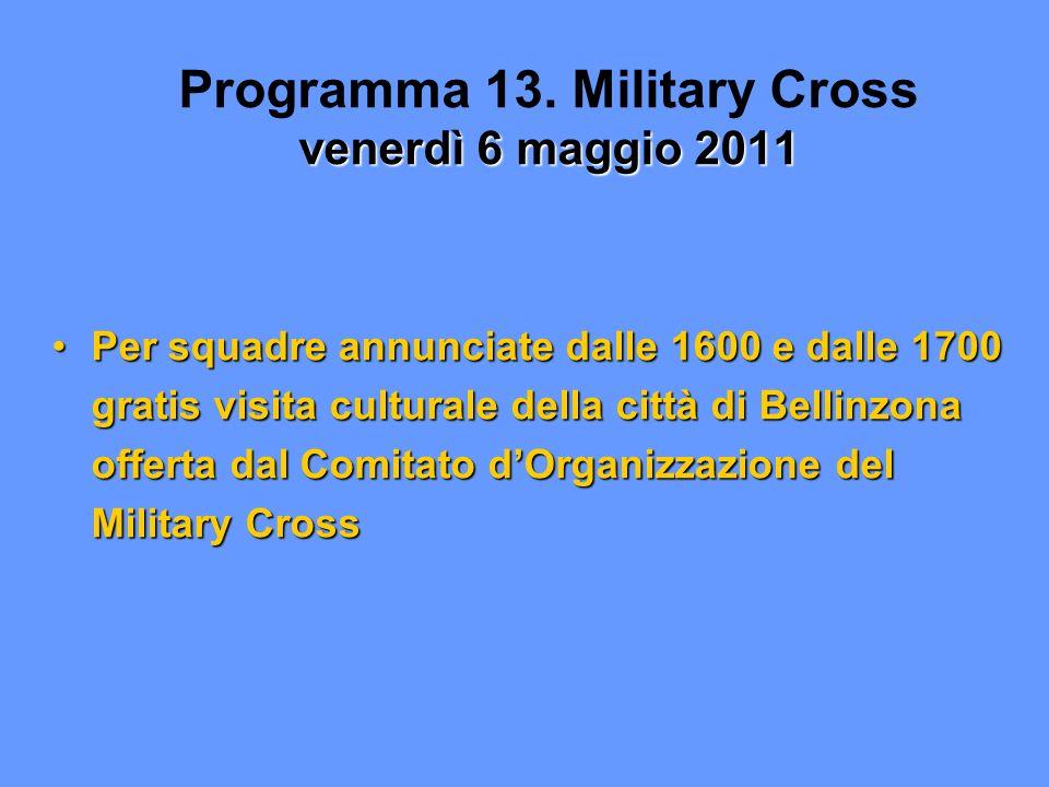 venerdì 6 maggio 2011 Programma 13.