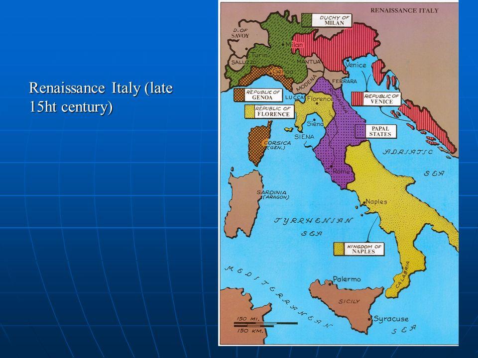 III. Renaissance Ideals A. Concept of Whole Man B. Humanism C. virtù