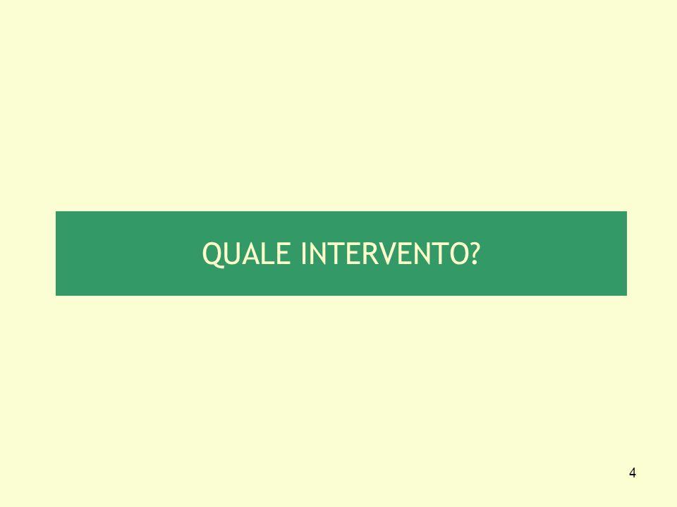 4 QUALE INTERVENTO?