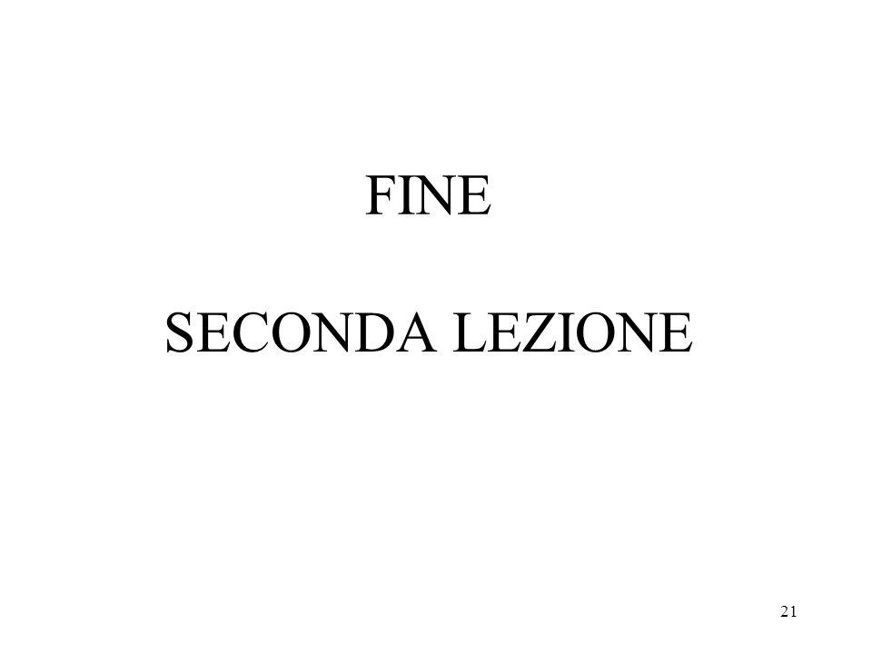 21 FINE SECONDA LEZIONE