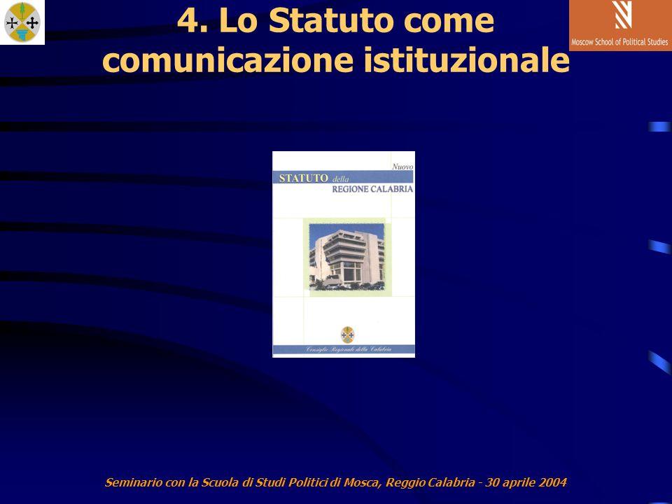 Seminario con la Scuola di Studi Politici di Mosca, Reggio Calabria - 30 aprile 2004 4.