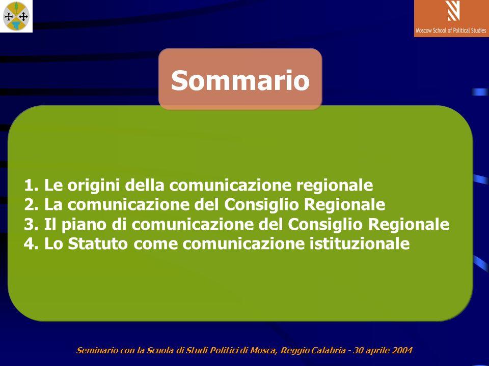Seminario con la Scuola di Studi Politici di Mosca, Reggio Calabria - 30 aprile 2004 1.