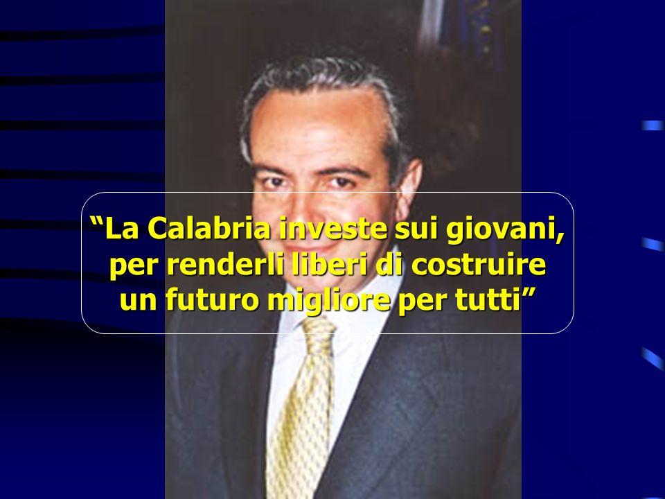 La Calabria investe sui giovani, per renderli liberi di costruire un futuro migliore per tutti