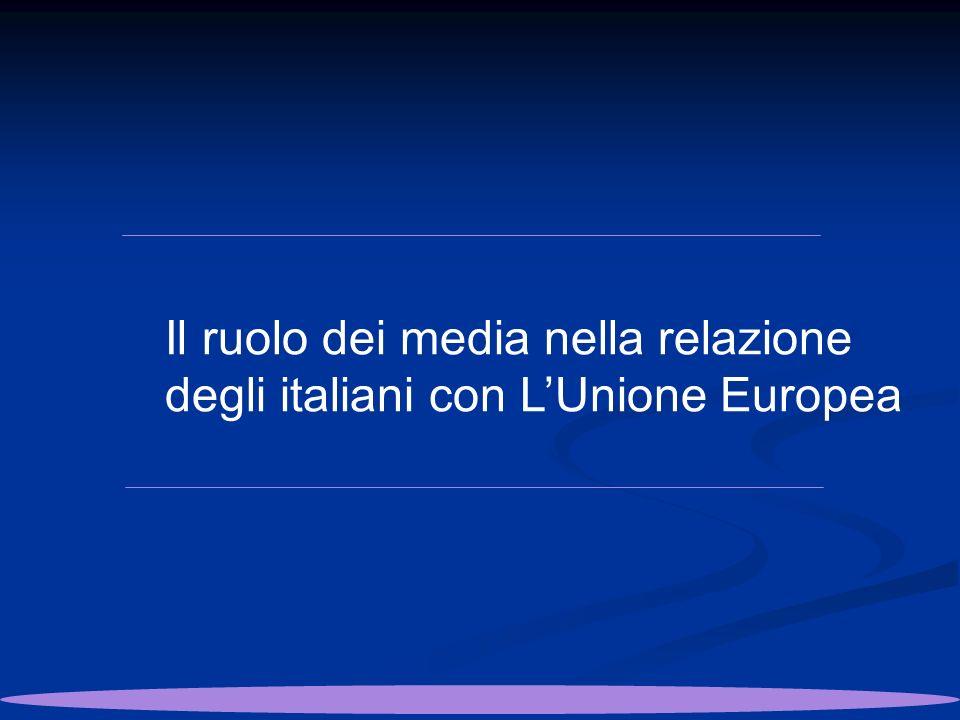 Il ruolo dei media nella relazione degli italiani con LUnione Europea