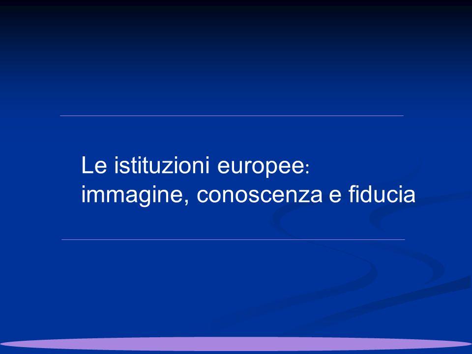 Le istituzioni europee : immagine, conoscenza e fiducia