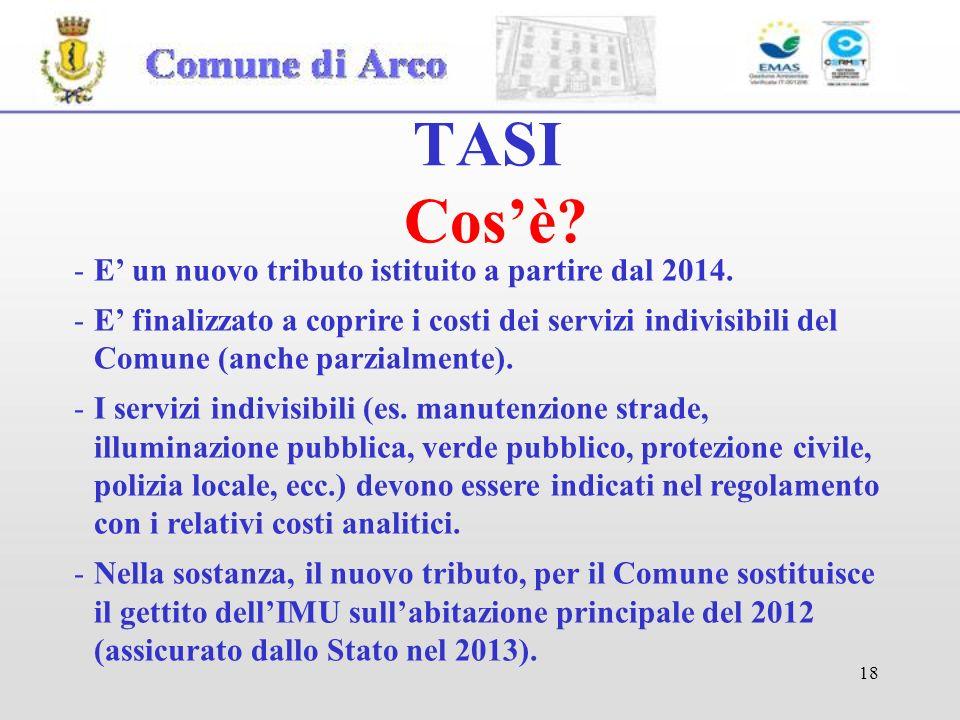 18 TASI Cosè.-E un nuovo tributo istituito a partire dal 2014.