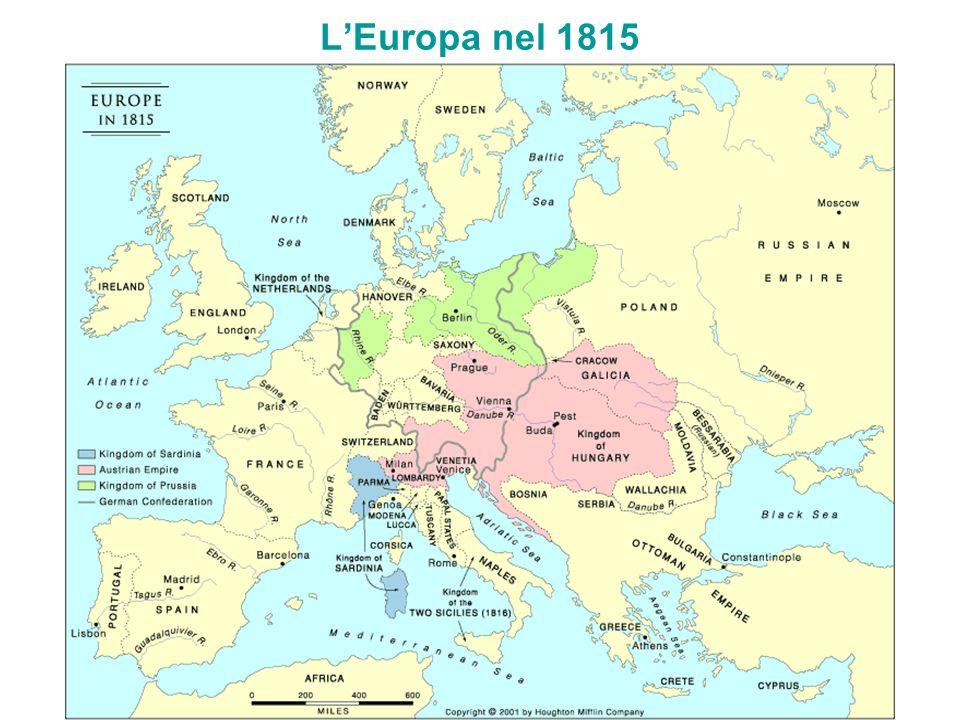 LEuropa nel 1815