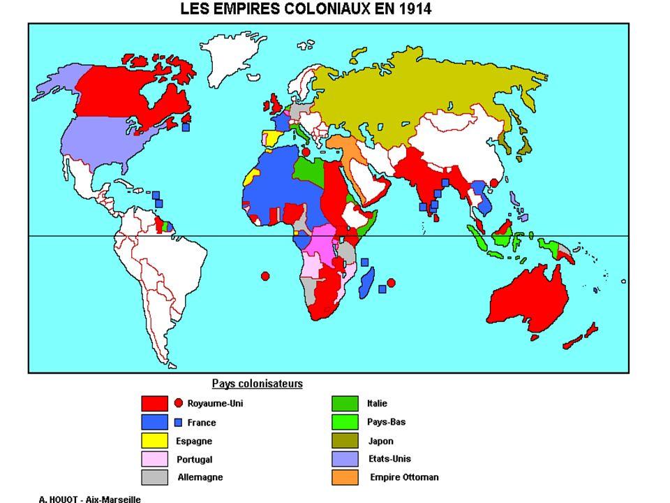 Gli imperi coloniali nel 1914