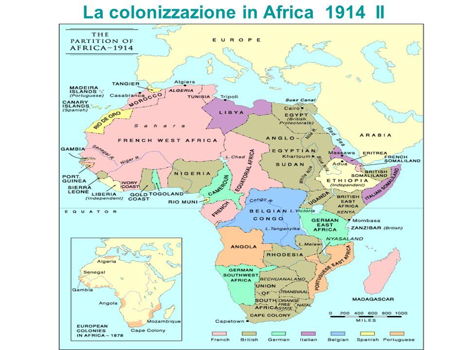 La colonizzazione in Africa 1914 II