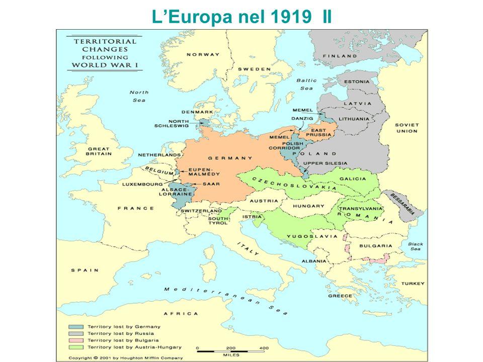 LEuropa nel 1919 II
