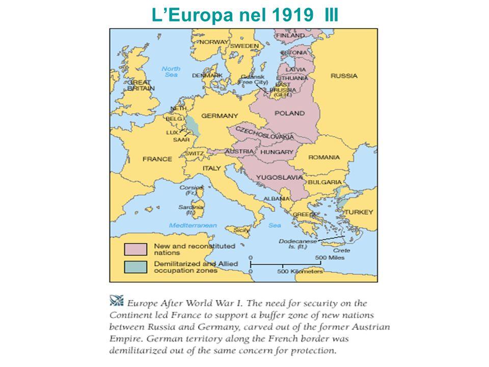 LEuropa nel 1919 III