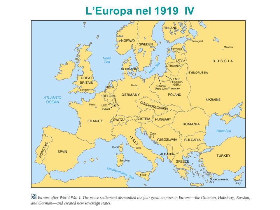 LEuropa nel 1919 IV