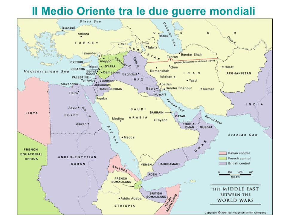 Il Medio Oriente tra le due guerre mondiali