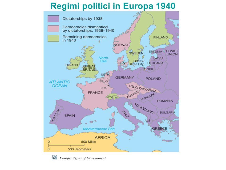 Regimi politici in Europa 1940