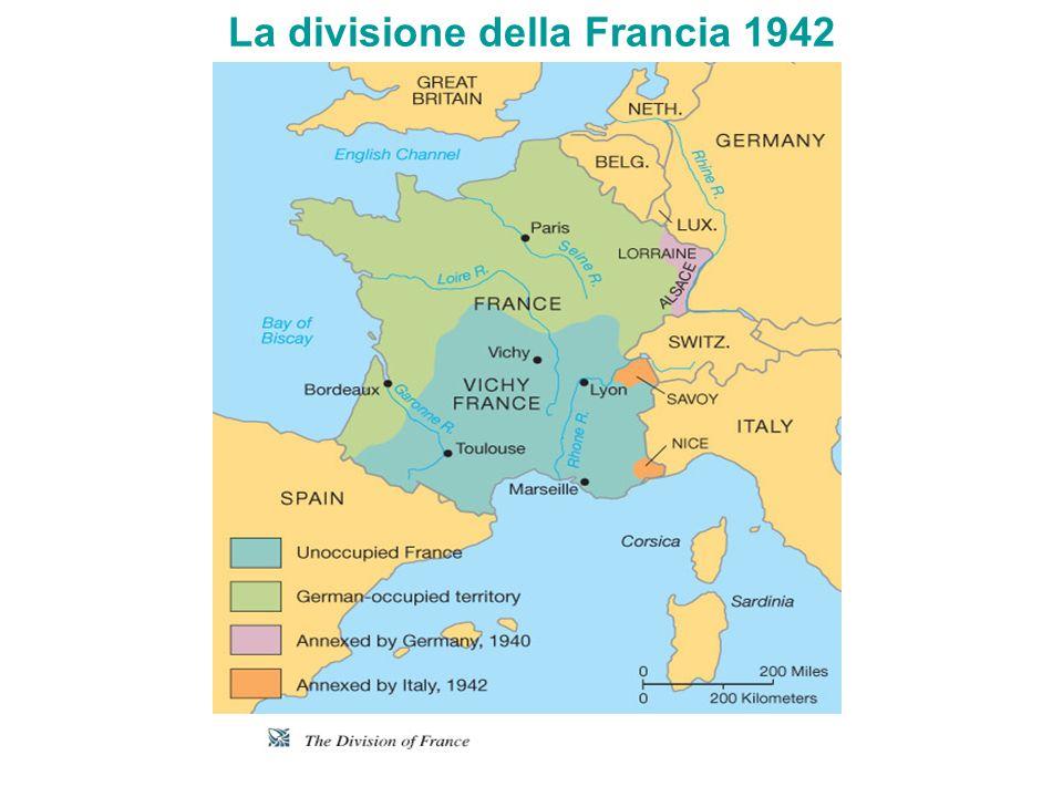 La divisione della Francia 1942