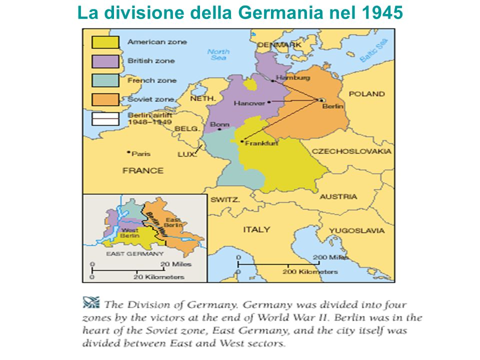 La divisione della Germania nel 1945