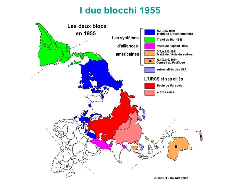 I due blocchi 1955