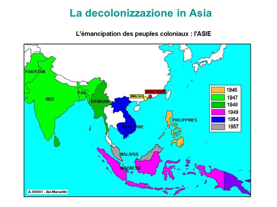 La decolonizzazione in Asia