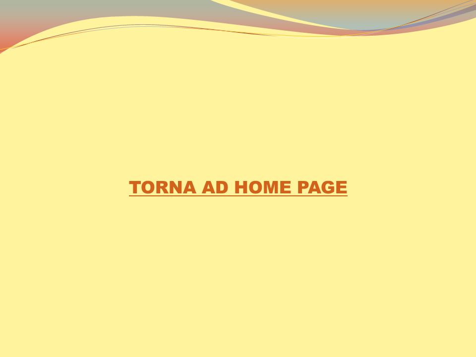TORNA AD HOME PAGE