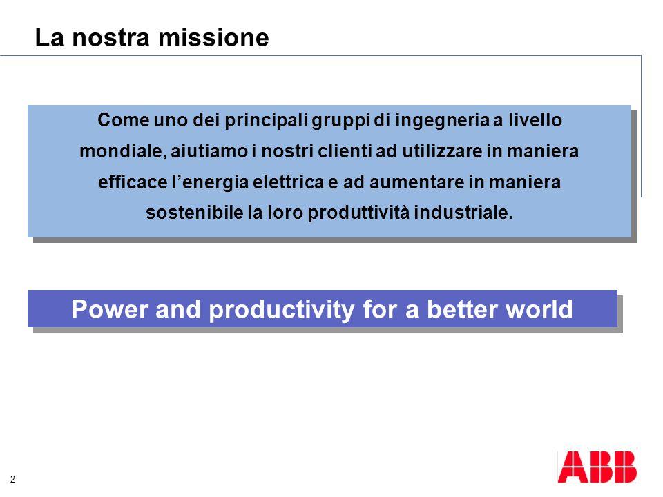 2 La nostra missione Come uno dei principali gruppi di ingegneria a livello mondiale, aiutiamo i nostri clienti ad utilizzare in maniera efficace lene