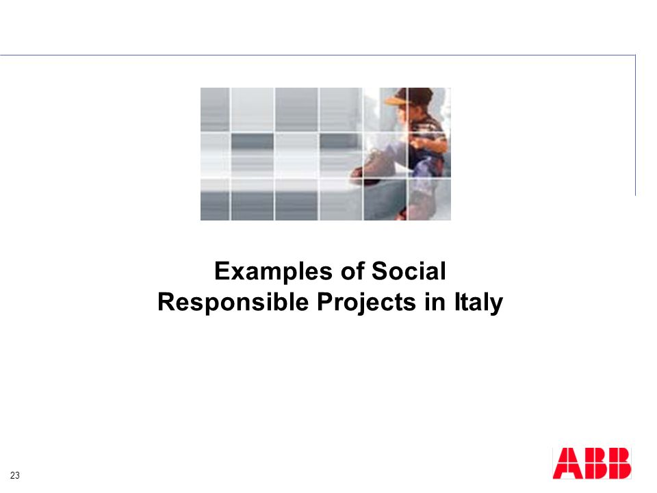 23 Examples of Social Responsible Projects in Italy