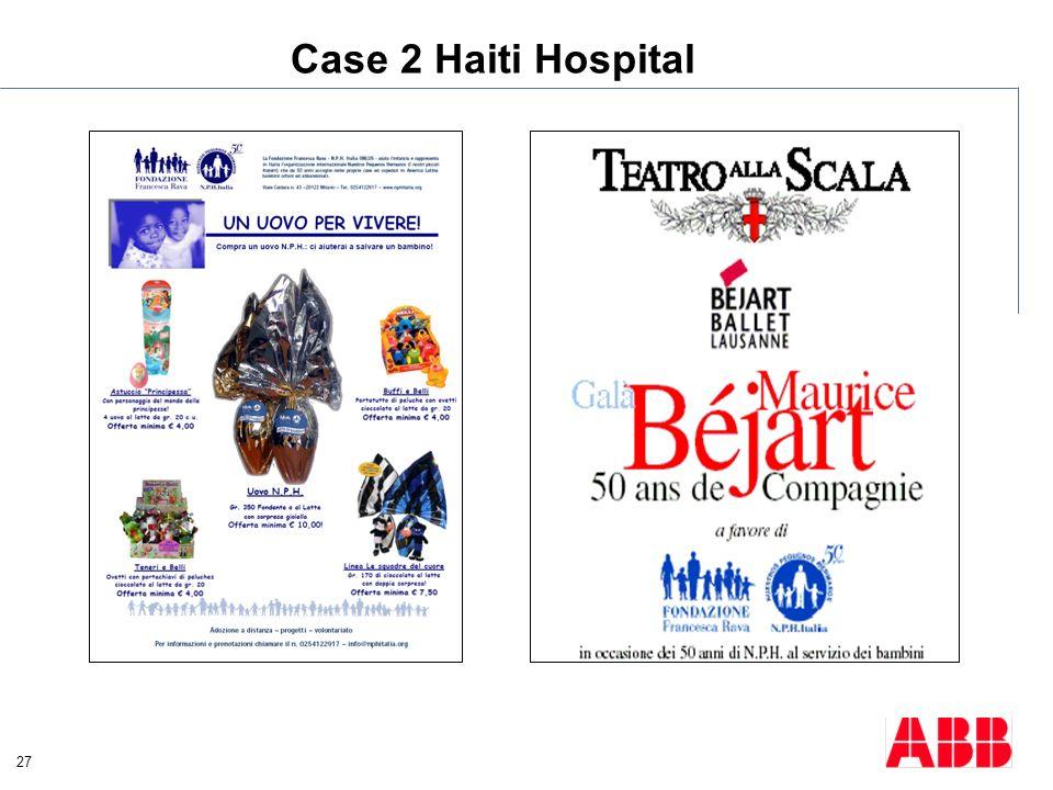 27 Case 2 Haiti Hospital