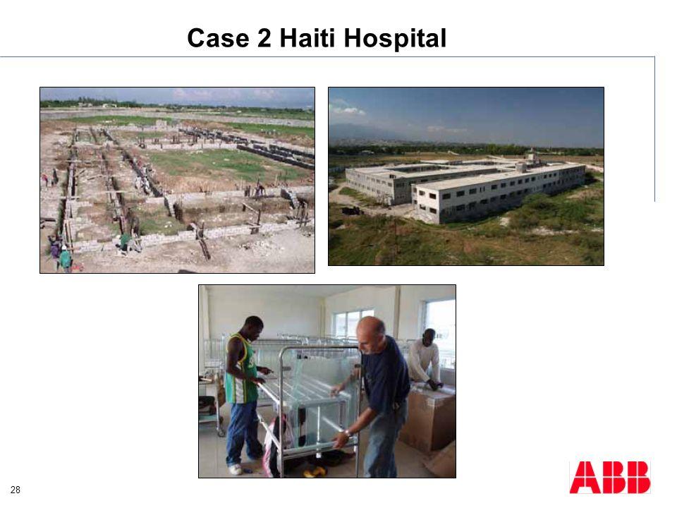 28 Case 2 Haiti Hospital