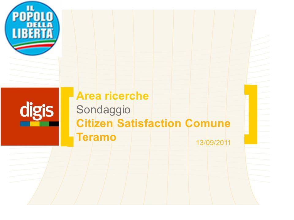 2 Area ricerche Sondaggio Citizen Satisfaction Comune Teramo Nota metodologica